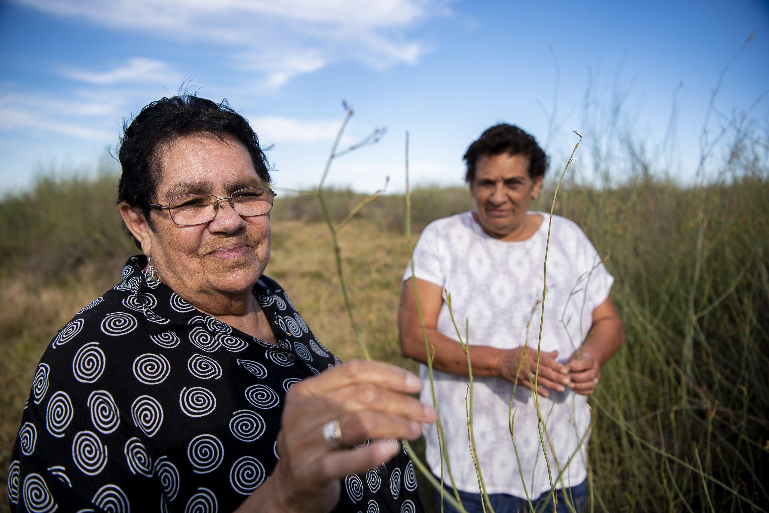 Mabel Fitzpatrick and Kerrie Parker, both Nari Nari Elders