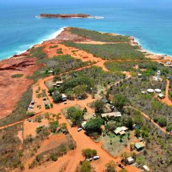 Kooljaman at Cape Leveque Tourist Resort aerial shot
